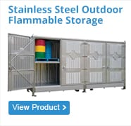 Stainless-Steel-Outdoor flammable storage