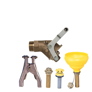 Clamps, Vents, Taps, Safety Cans & Shovels