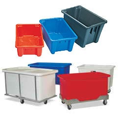 Plastic Storage Containers & Boxes